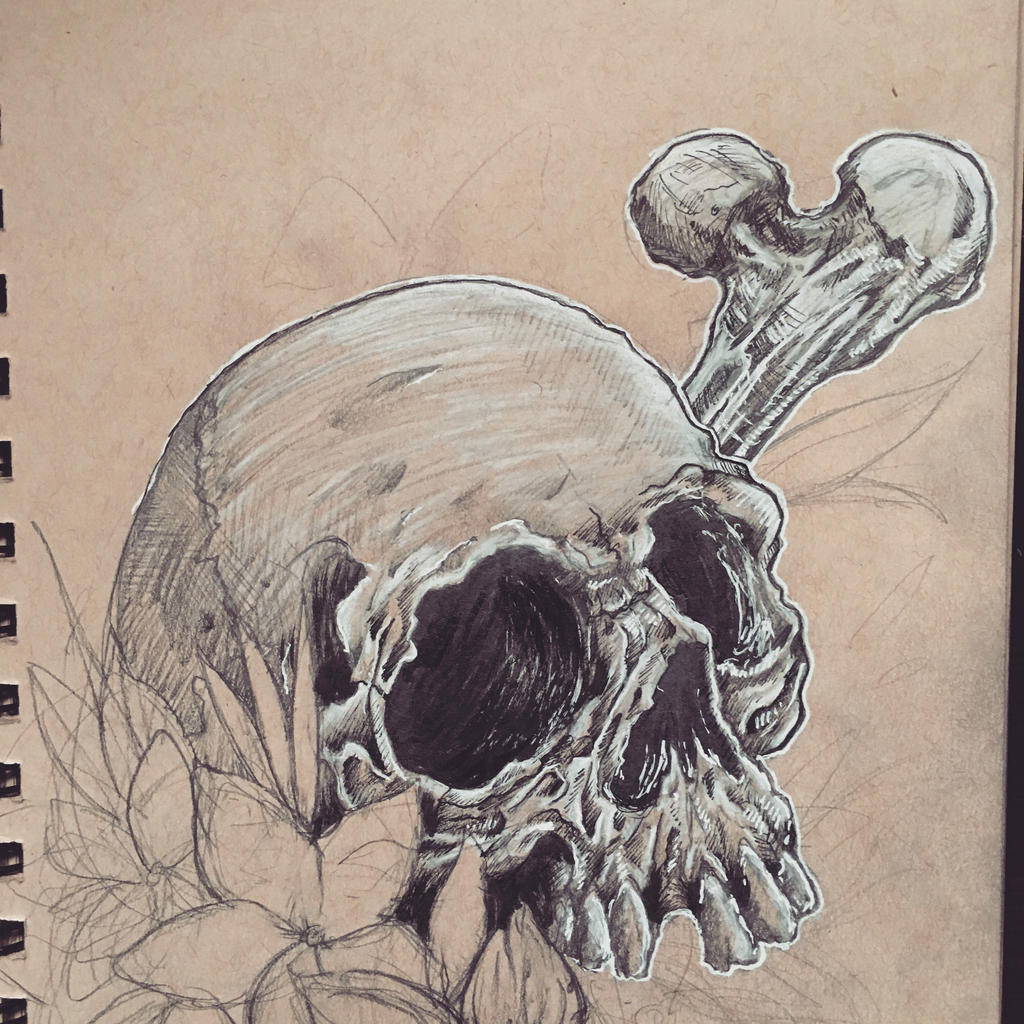 Skull And Guns Unfinished By Ifinch On Deviantart: Unfinished Skull By Oh-Ej On DeviantArt