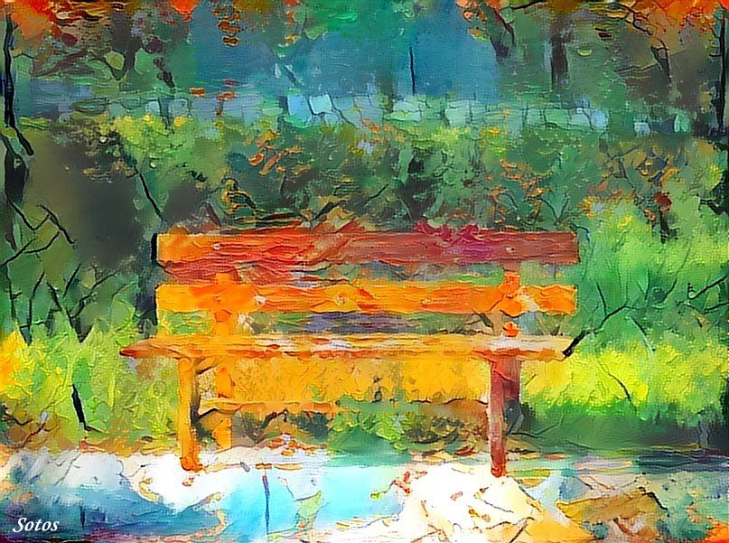 The Lonely Bench by sotosker