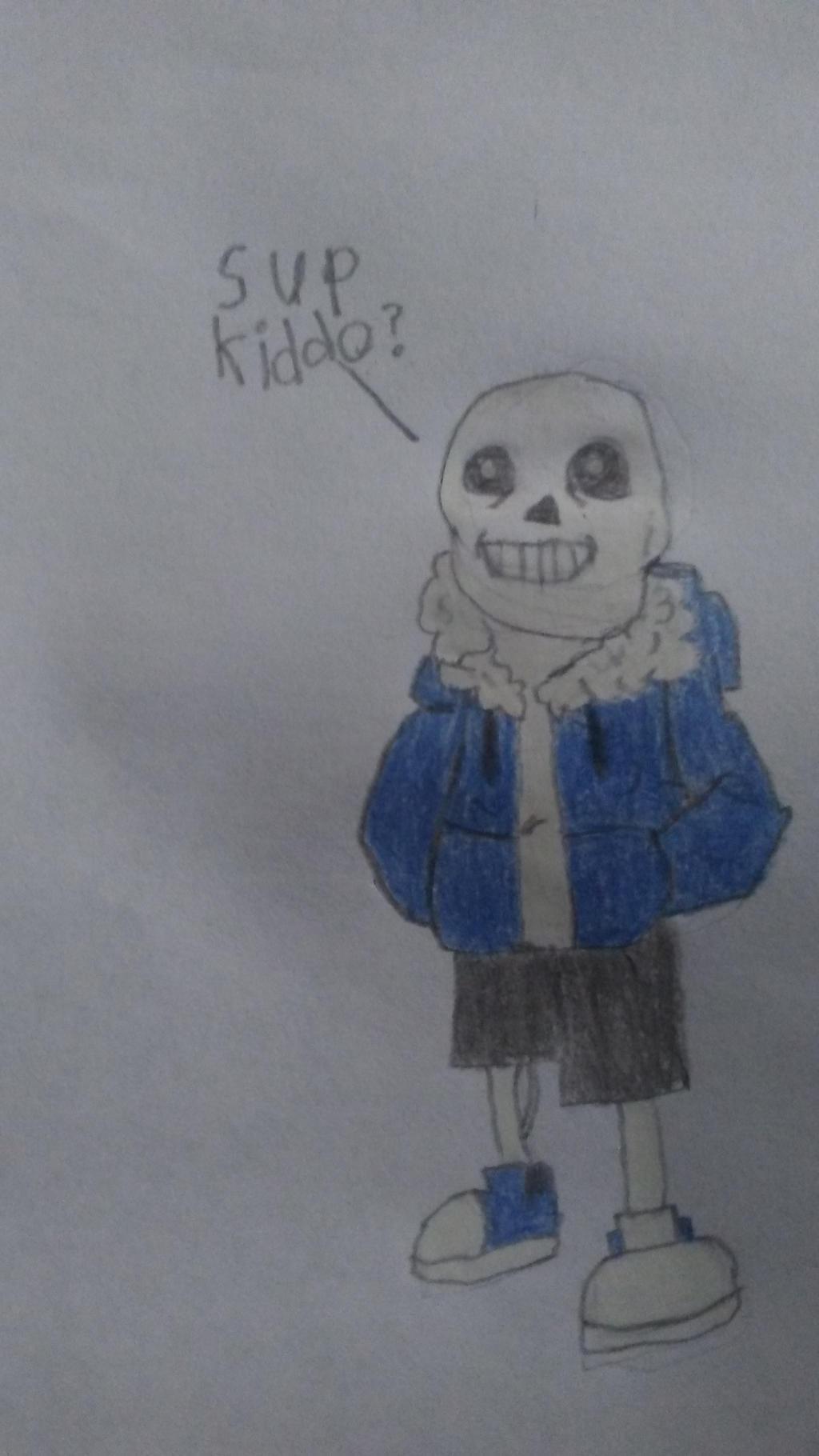 Undertale Sans drawing attempt by BeastmodeGuNs