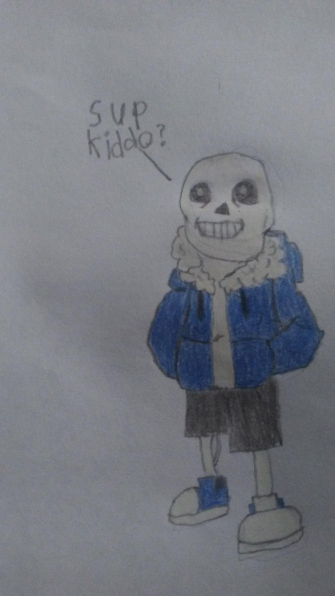 Undertale Sans drawing attempt by BeastmodeGuNs