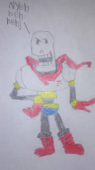 Undertale Papyrus drawing attempt