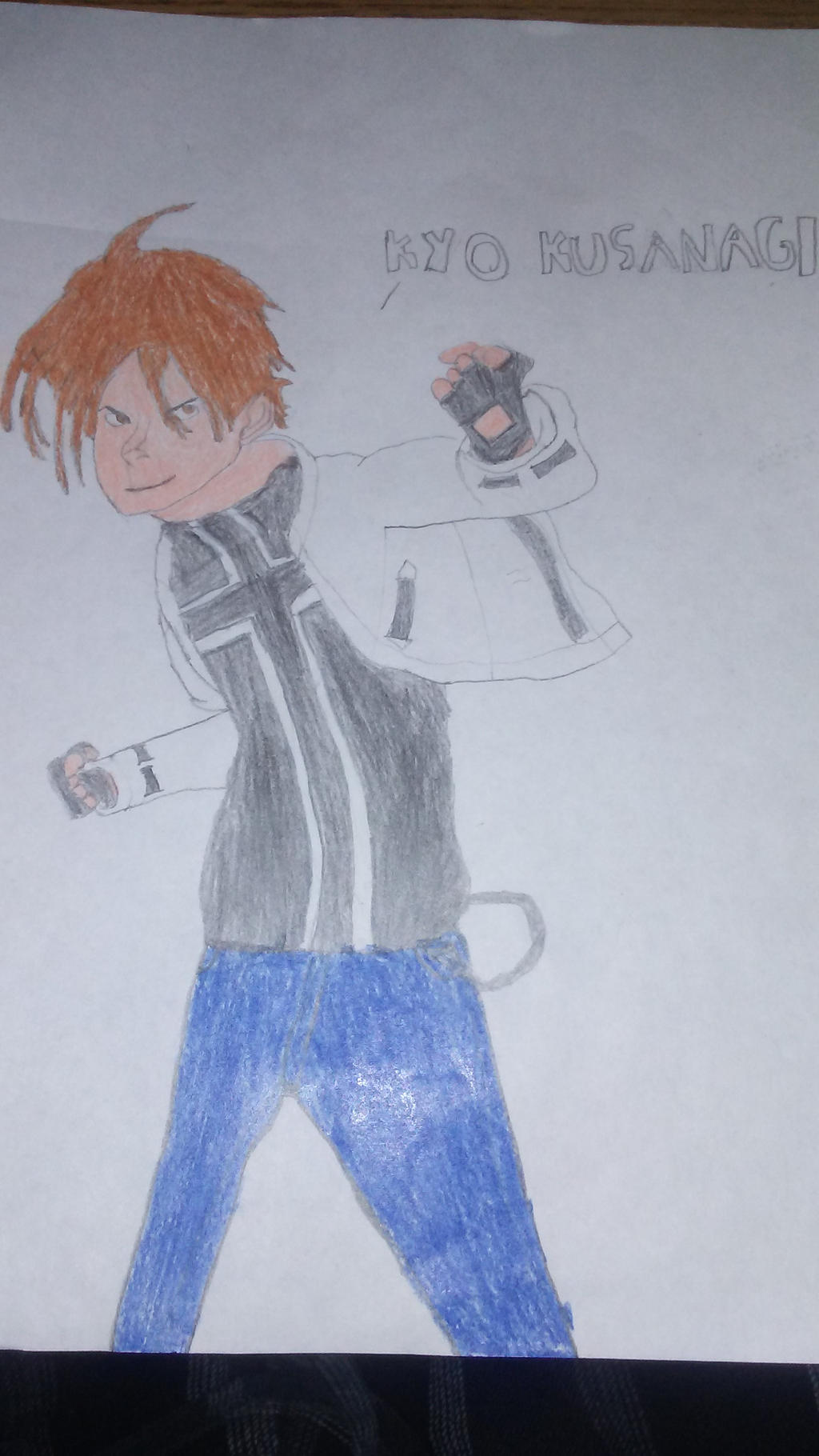 King of Fighters - Kyo Kusanagi Drawing attempt by BeastmodeGuNs