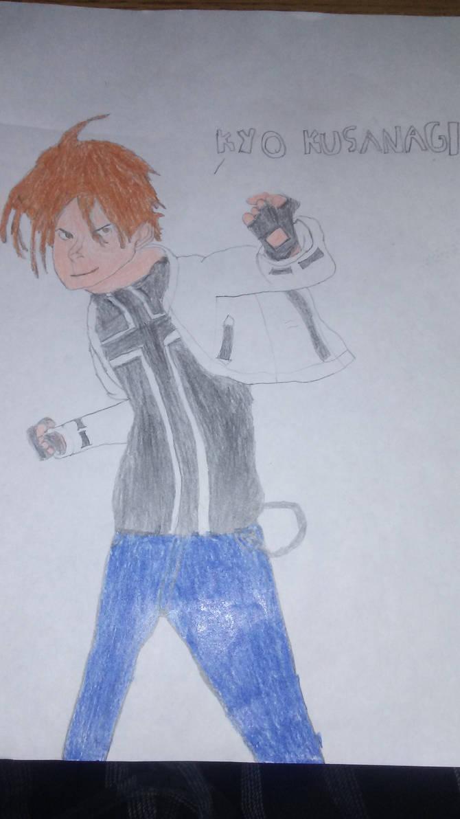 King of Fighters - Kyo Kusanagi Drawing attempt