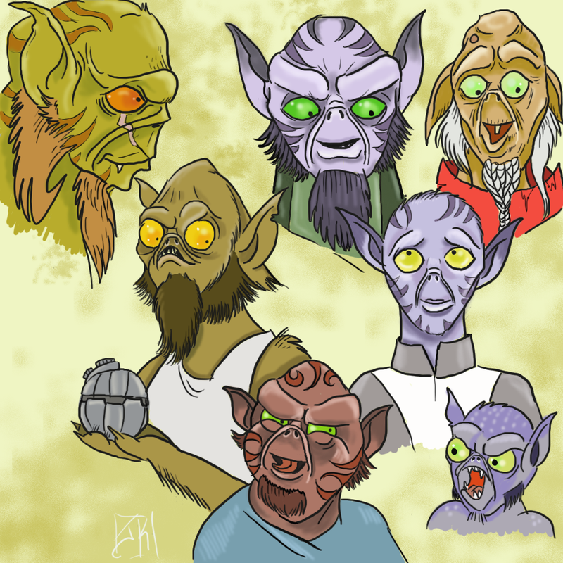 Zeb and other assorted lasats by Y-eskii-lass