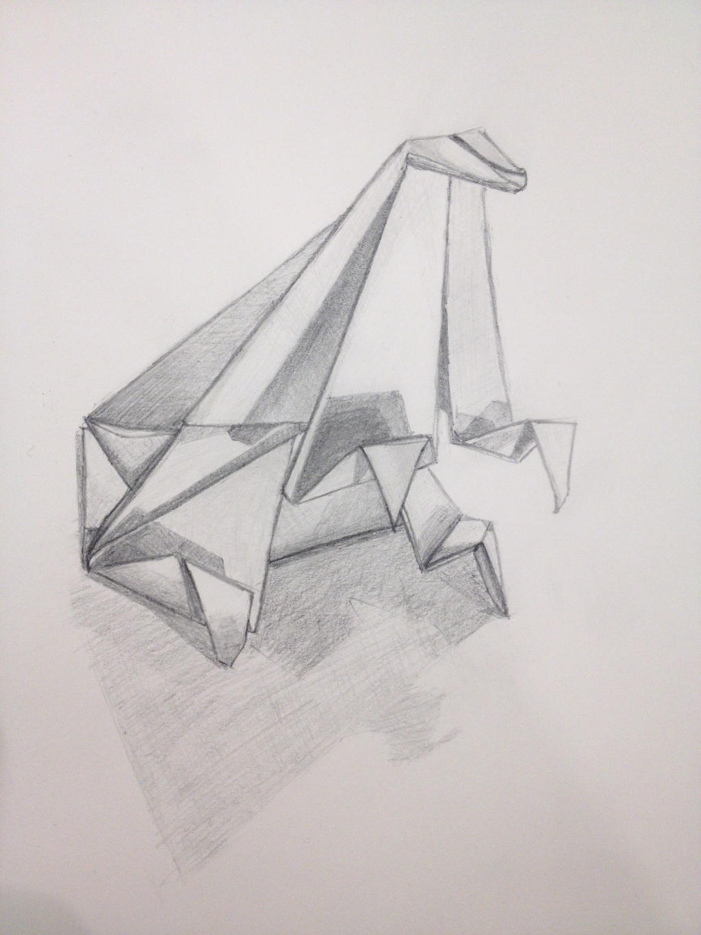 Origami Drawing by J0mm on DeviantArt - photo#7