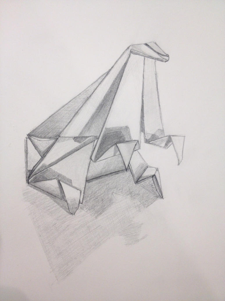 Origami Drawing By J0mm