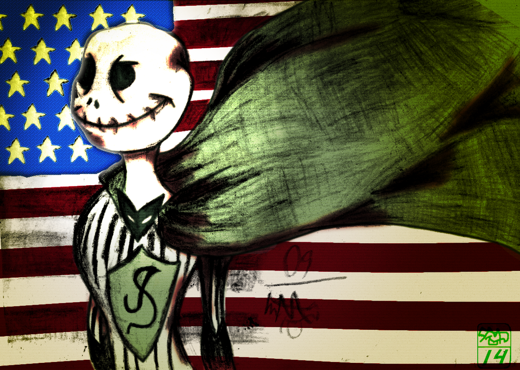 The American Skellington by Ohthehumanityplz