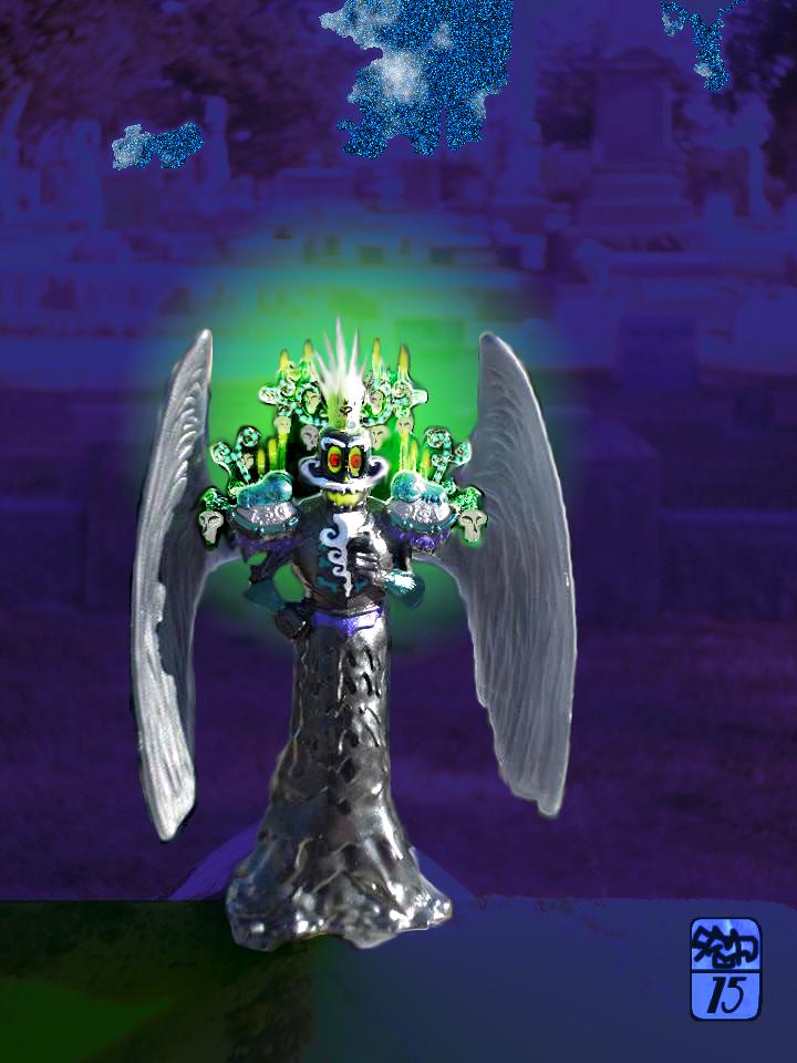 Xibalba's midnight cemetery visit by Ohthehumanityplz