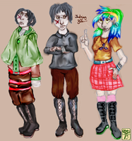 Levi and Penelopy in a row by Ohthehumanityplz