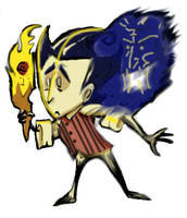 Dont starve wilson badge by Ohthehumanityplz