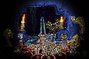 Skeledork in the ruins by Ohthehumanityplz