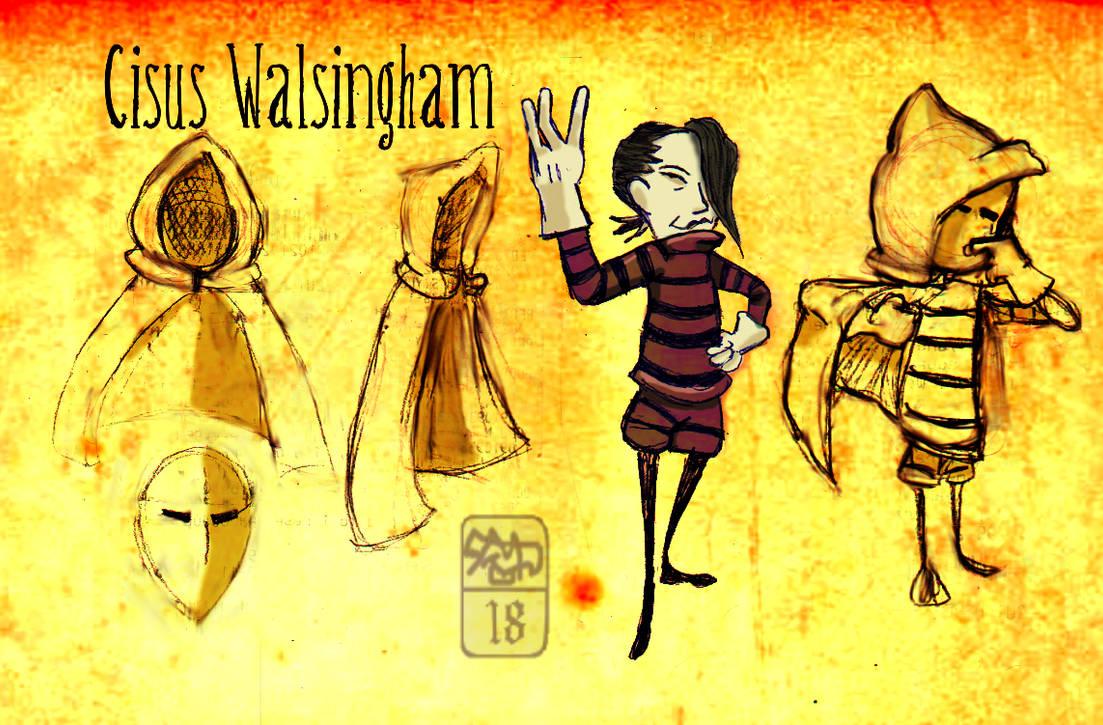 Cisus Walsingham the mime sorceror by Ohthehumanityplz