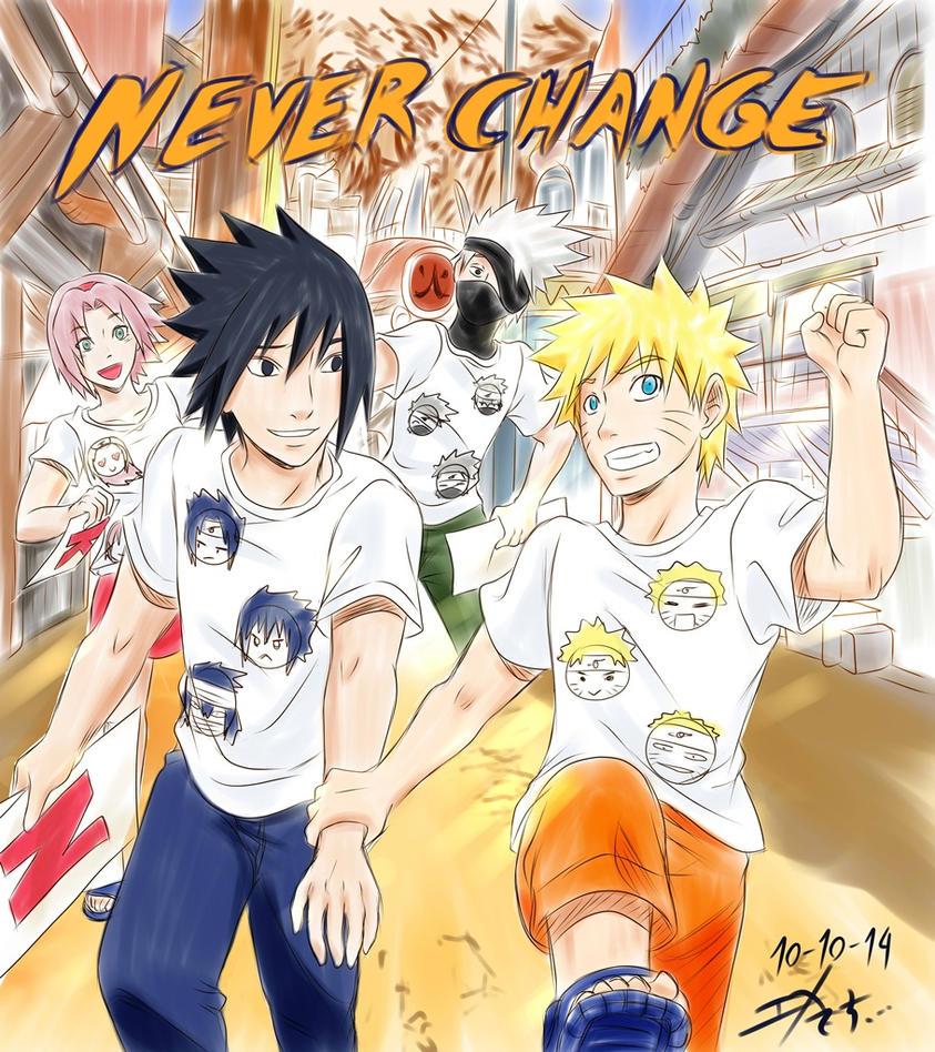 Never Change - to Naruto gift by Midorikawa-eMe111