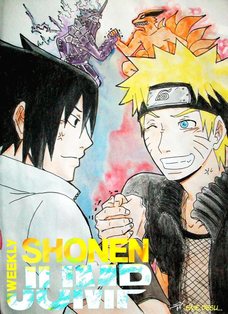 Shonen Jump Naruto Cover contest 2014. by Midorikawa-eMe111