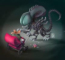 Xenomorph (and son) by JosepGiro