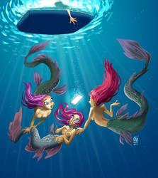 3 mermaids by JosepGiro