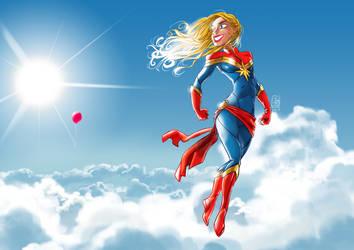 She found it! (nothing escapes Captain Marvel) by JosepGiro