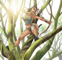 Lara on the tree