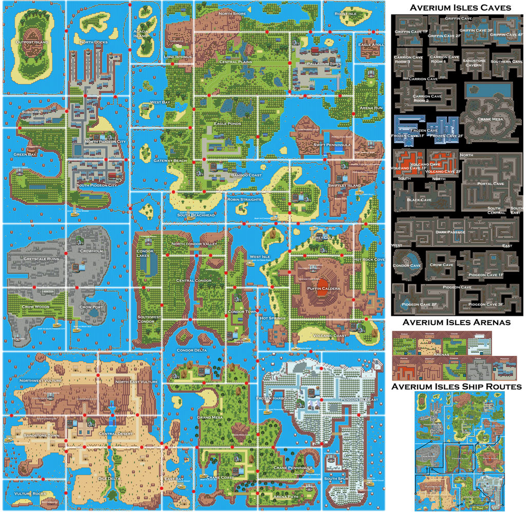 Pokemon Style Free Monster MMORPG World Map
