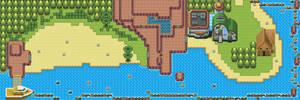 Pokemon Style Monster MMORPG Map Volcanic Coast