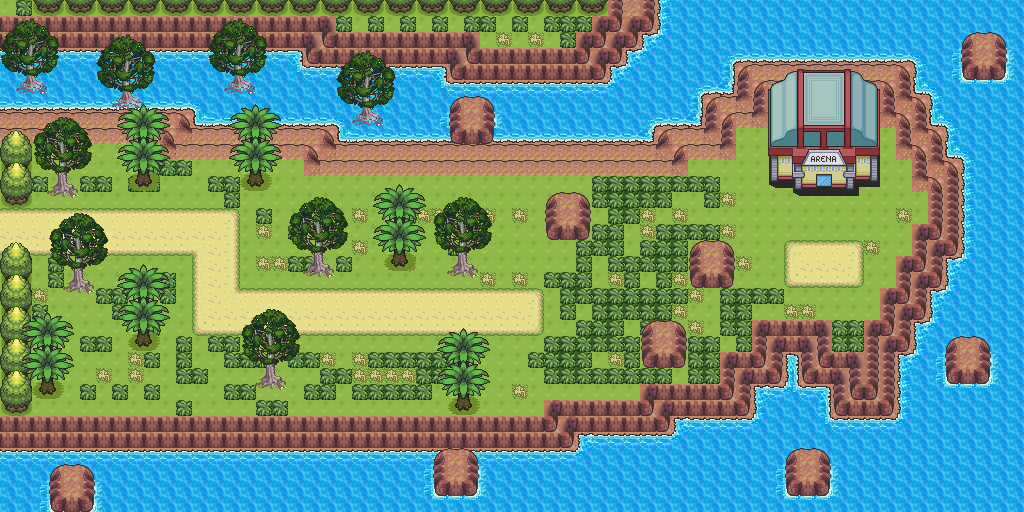 Pokemon Style Free Monster MMORPG Map Arena Path by MonsterMMORPG on