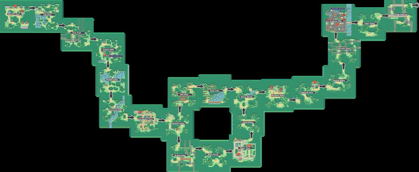 Pokemon Like Monster MMORPG V2 Zone 1 World Map by MonsterMMORPG
