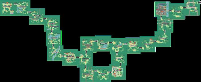 Pokemon Like Monster MMORPG V2 Zone 1 World Map