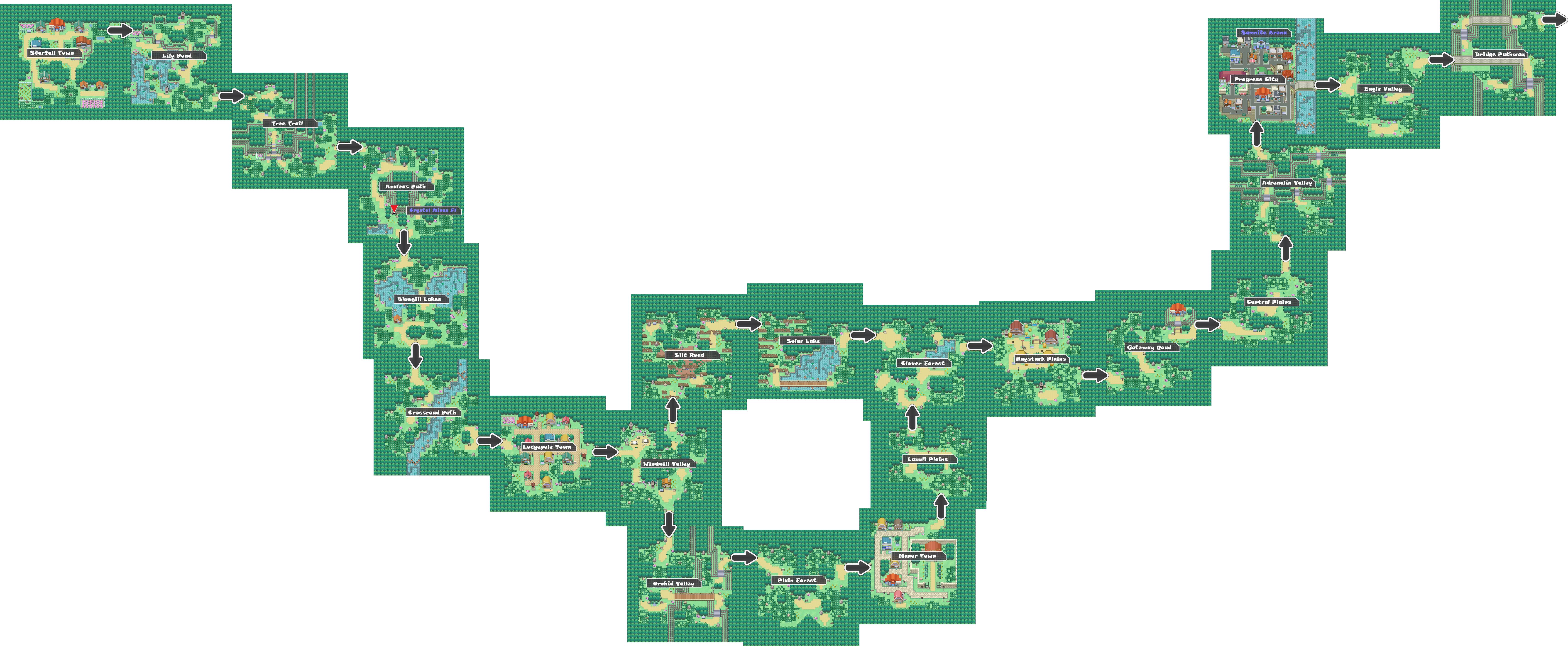 Pokemon Like Monster Mmorpg V2 Zone 1 World Map By