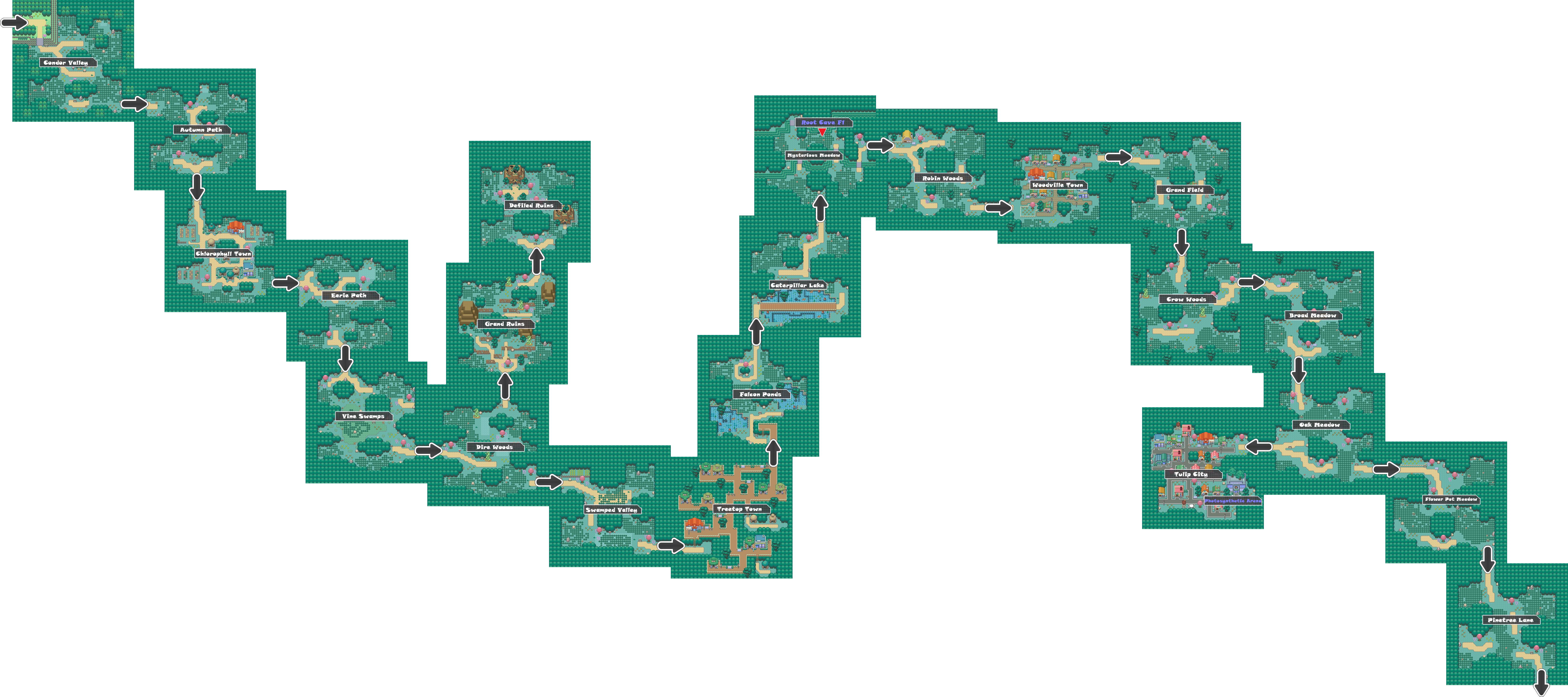 Pokemon Like Monster MMORPG V2 Zone 2 World Map