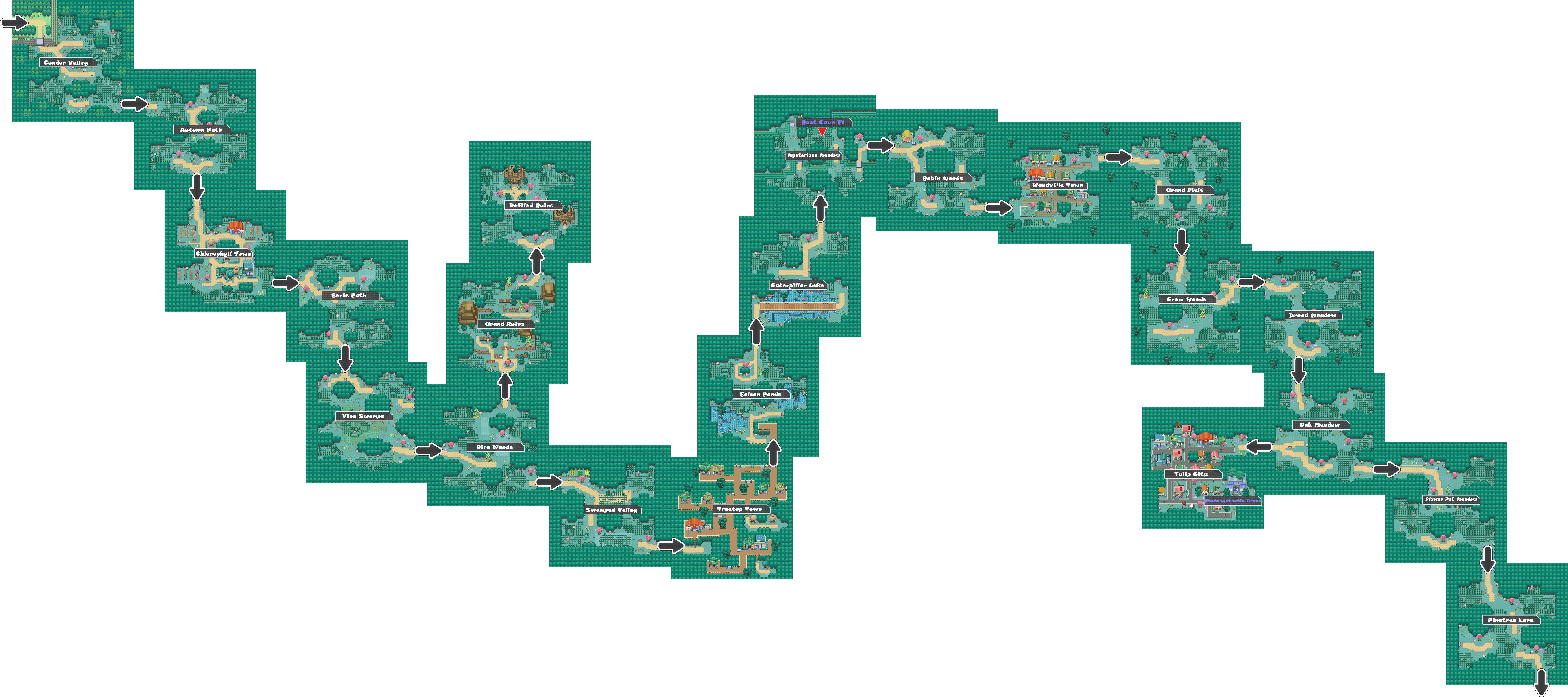 Pokemon Like Monster MMORPG V2 Zone 2 World Map by MonsterMMORPG
