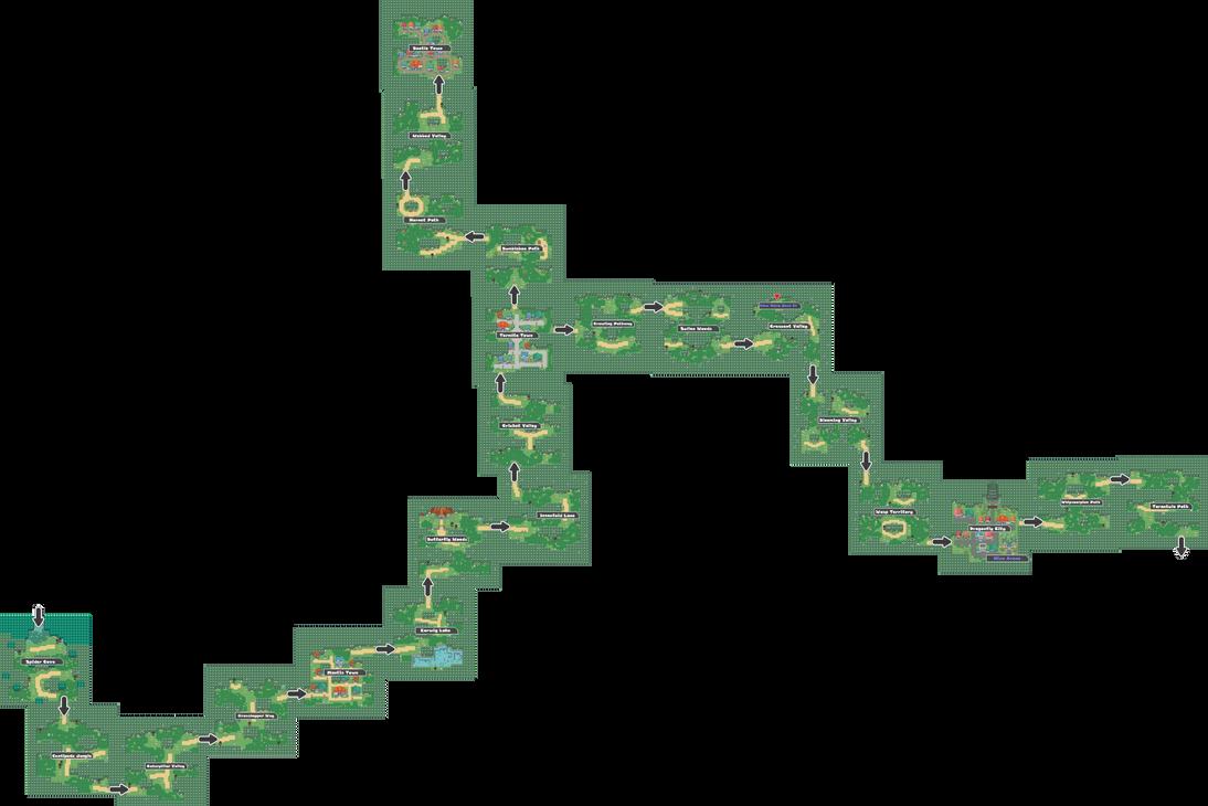 Pokemon Like Monster MMORPG V2 Zone 3 World Map by MonsterMMORPG