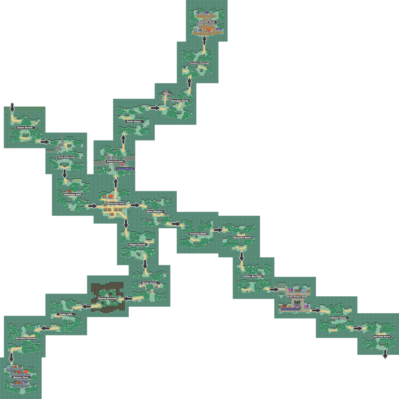 Pokemon Like Monster MMORPG V2 Zone 4 World Map
