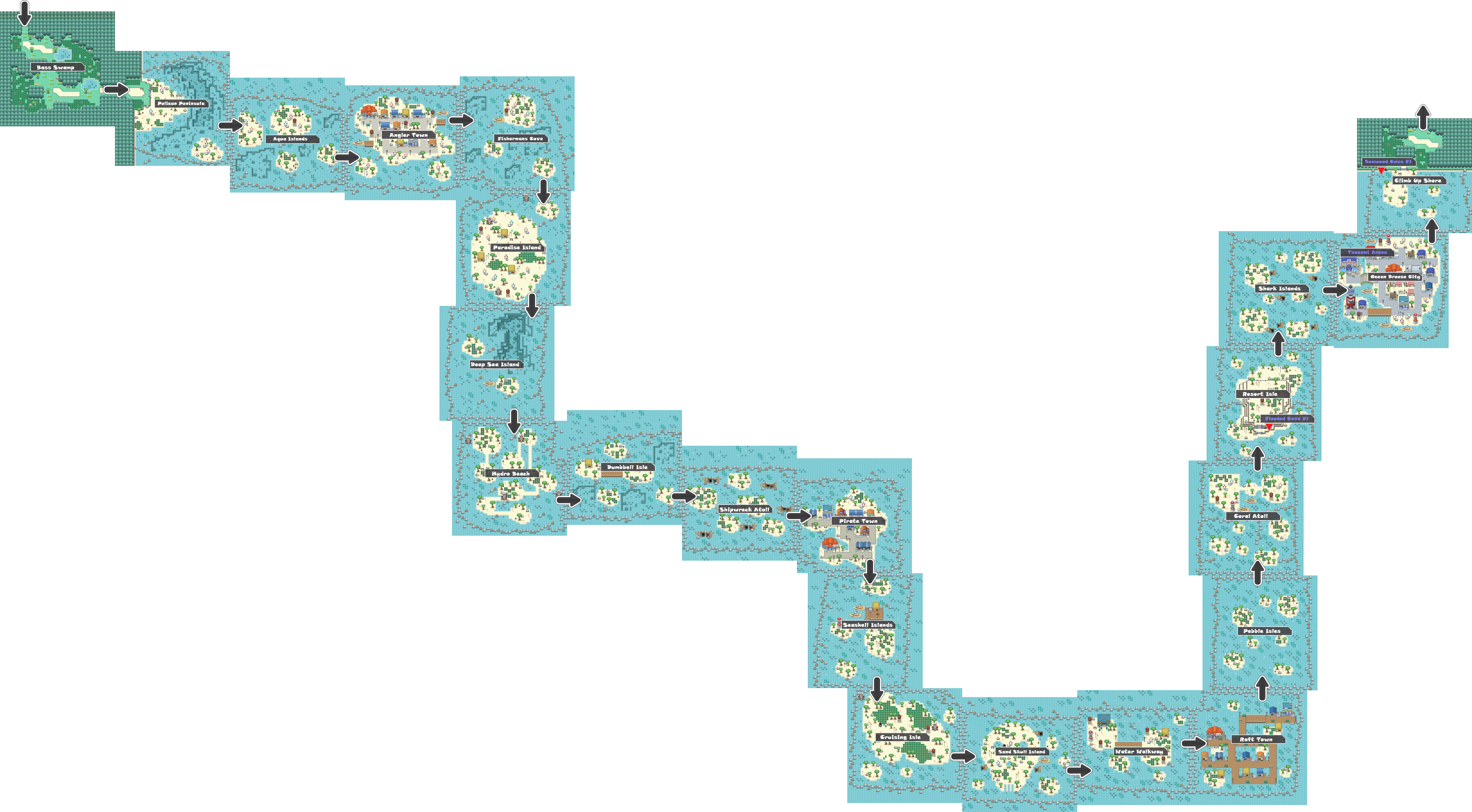 Pokemon Like Monster MMORPG V2 Zone 5 World Map