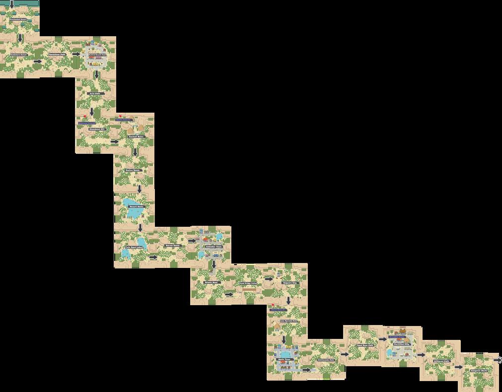 Pokemon Like Monster MMORPG V2 Zone 7 World Map by MonsterMMORPG