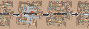 Pokemon Like Monster MMORPG V2 Zone 8 World Map