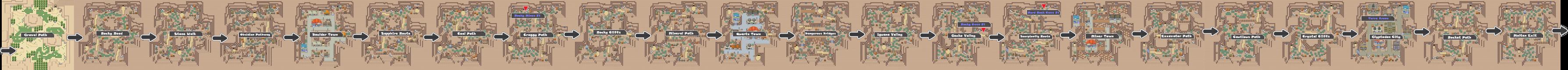Pokemon Like Monster MMORPG V2 Zone 8 World Map