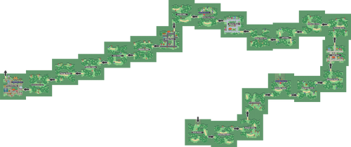 Pokemon Like Monster MMORPG V2 Zone 10 World Map
