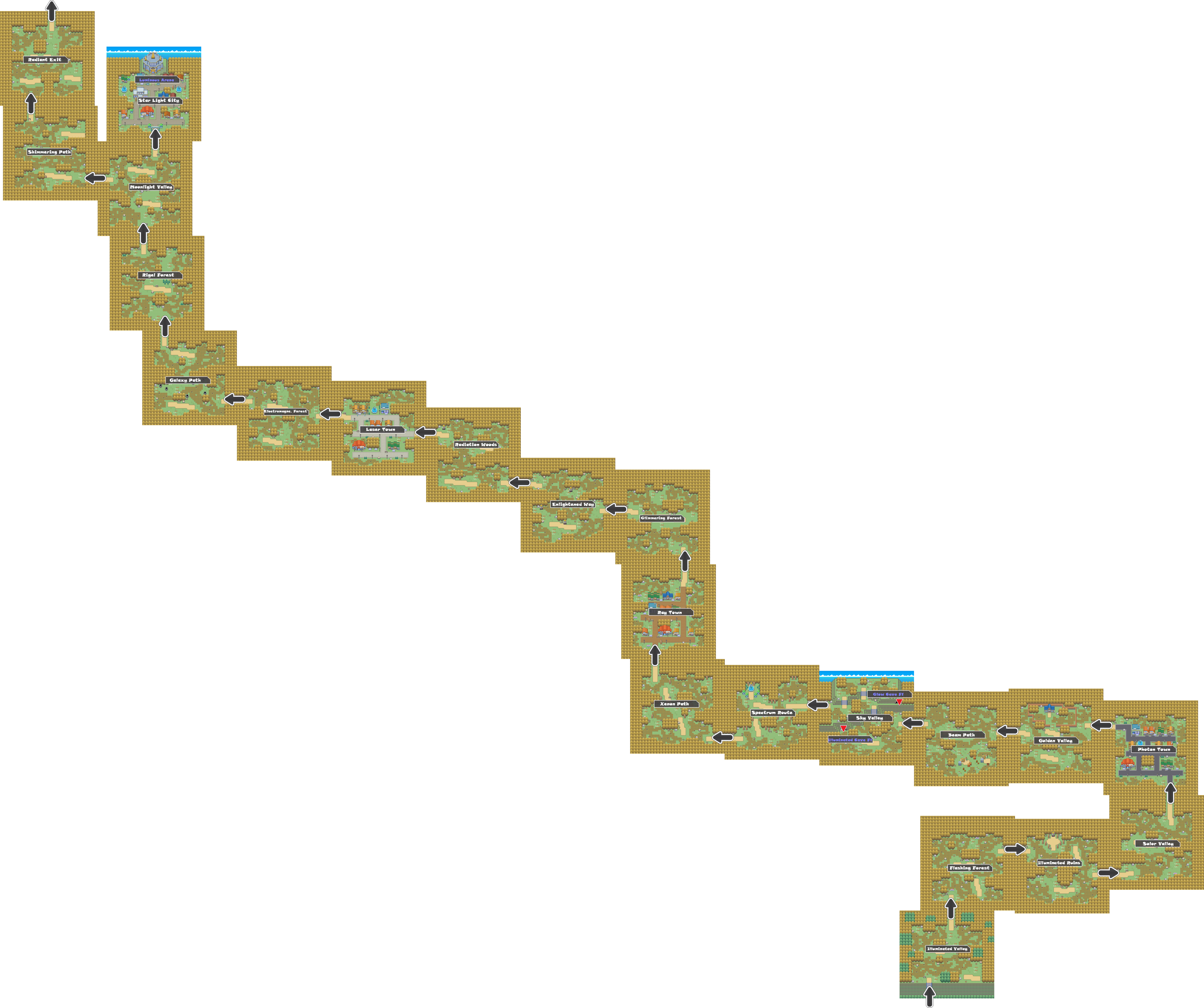 Pokemon Like Monster MMORPG V2 Zone 11 World Map