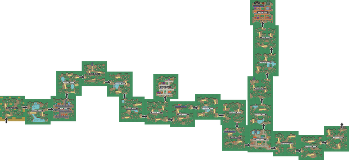 Pokemon Like Monster MMORPG V2 Zone 12 World Map