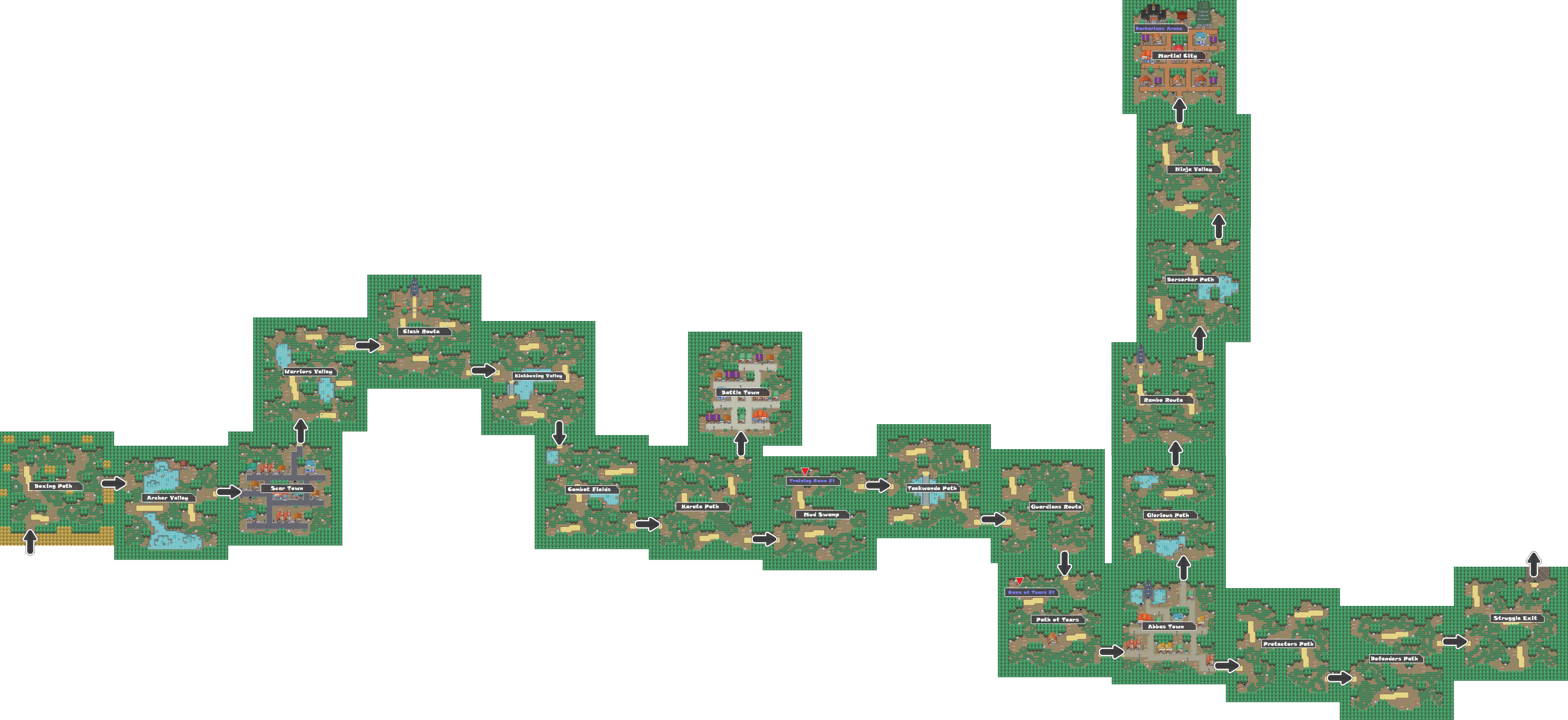 Pokemon Like Monster MMORPG V2 Zone 12 World Map by MonsterMMORPG