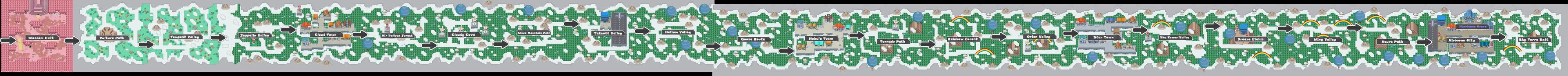 Pokemon Like Monster MMORPG V2 Zone 15 World Map by MonsterMMORPG