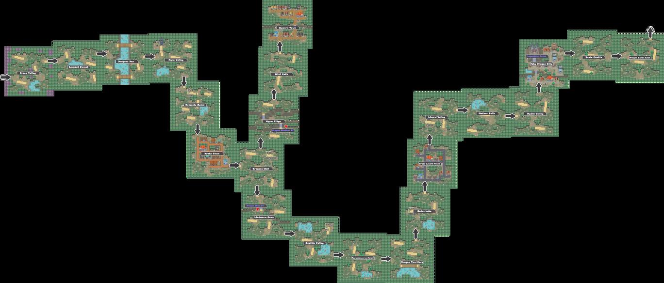 Pokemon Like Monster MMORPG V2 Zone 17 World Map by MonsterMMORPG