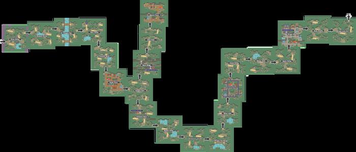 Pokemon Like Monster MMORPG V2 Zone 17 World Map