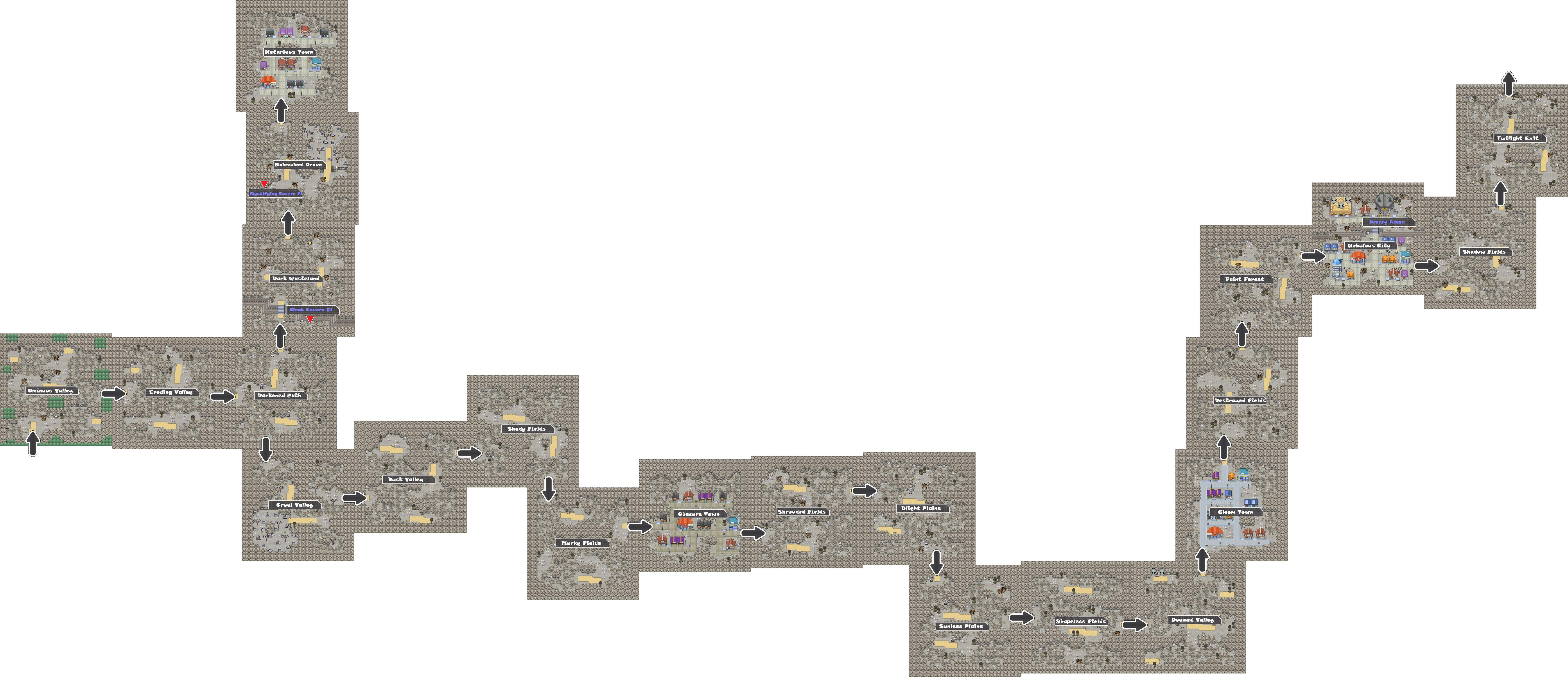 Pokemon Like Monster MMORPG V2 Zone 18 World Map by MonsterMMORPG