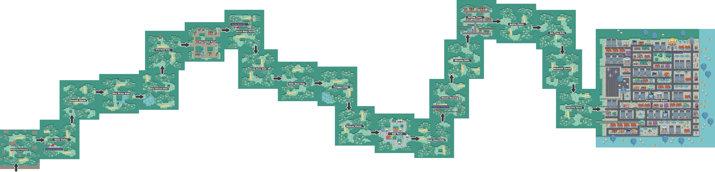 Pokemon Like Monster MMORPG V2 Zone 19 World Map by MonsterMMORPG