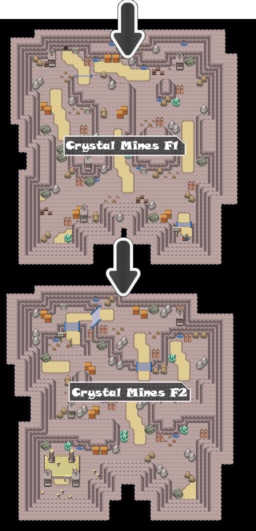 Zone 1 Normal Caves Zone Map Pokemon Like MMORPG