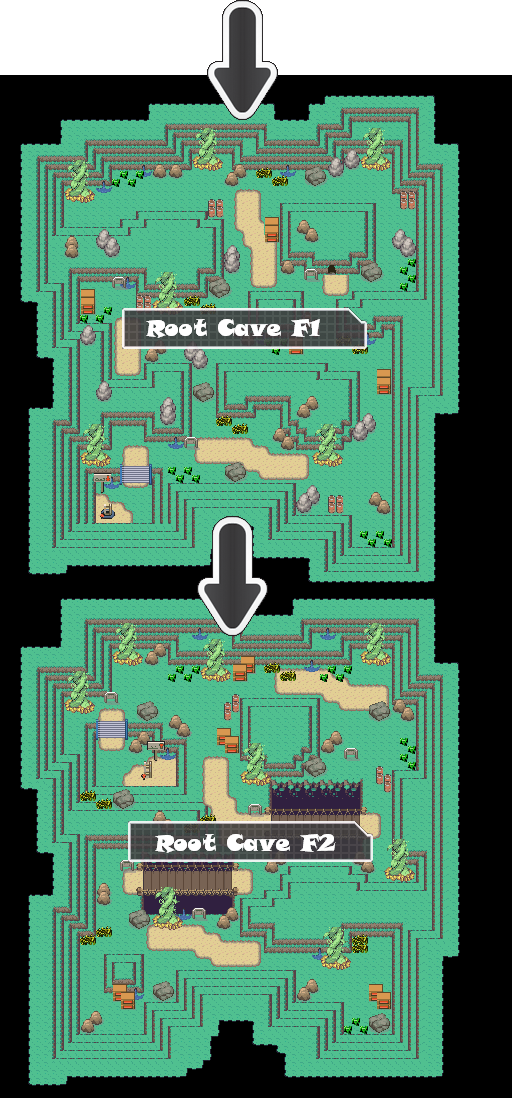 Zone 2 Grass Caves Zone Map Pokemon Like MMORPG by MonsterMMORPG