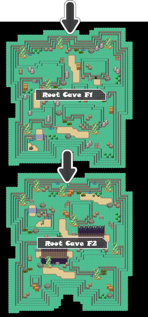 Zone 2 Grass Caves Zone Map Pokemon Like MMORPG