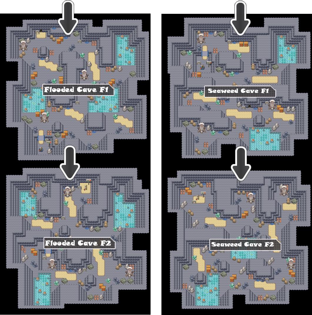 Zone 5 Water Caves Zone Map Pokemon Like MMORPG