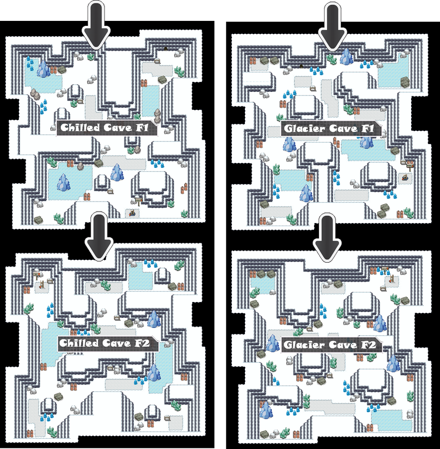 Zone 6 Ice Caves Zone Map Pokemon Like MMORPG by MonsterMMORPG